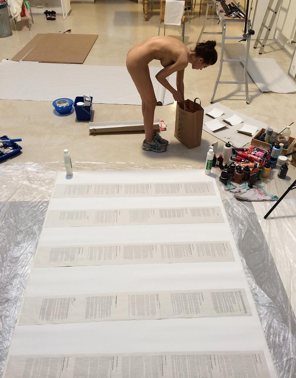 "Studio  | Preparations for ""PlopEgg Painting Performance"" Art Cologne 2014"
