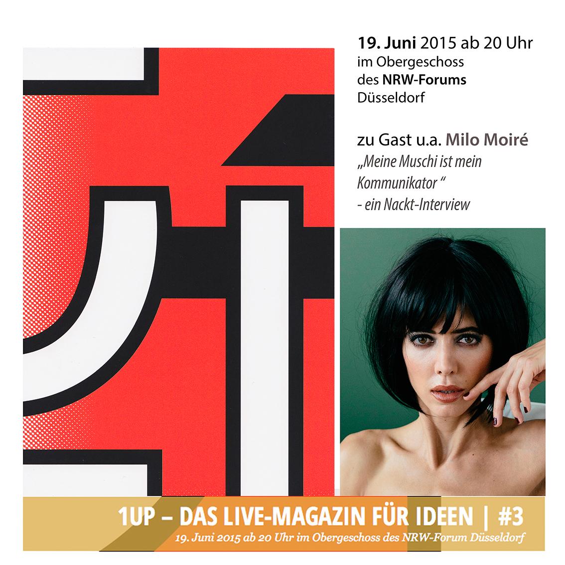 NRW-Forum 1UP mit Milo Moiré