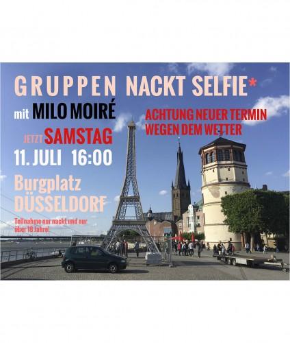 Gruppen Nackt Selfie mit Milo Moire Burgplatz Düsseldorf Samstag 11 Juli 2015