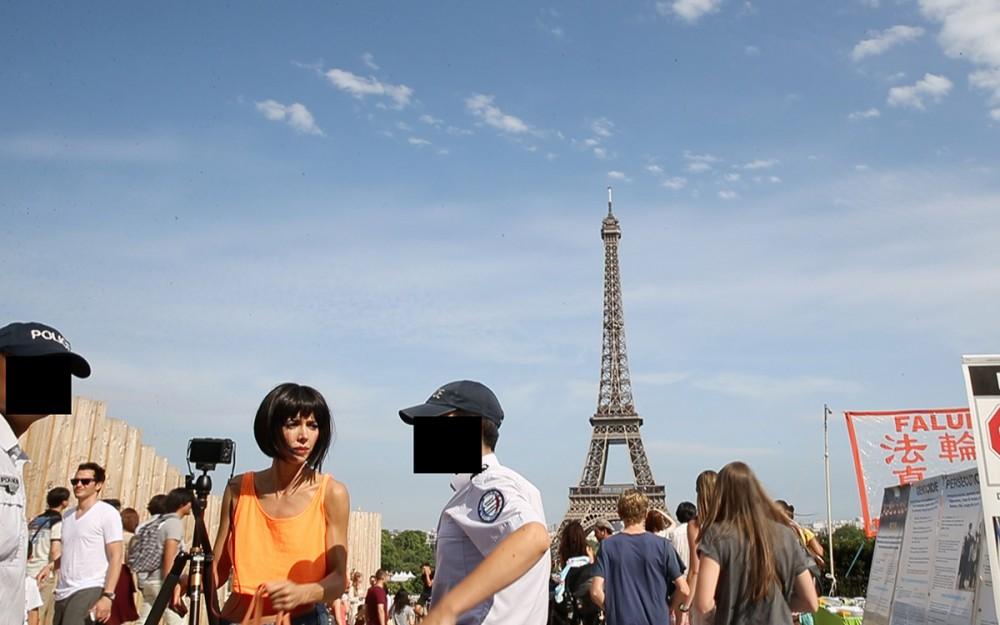 Milo Moiré arrested Paris 1