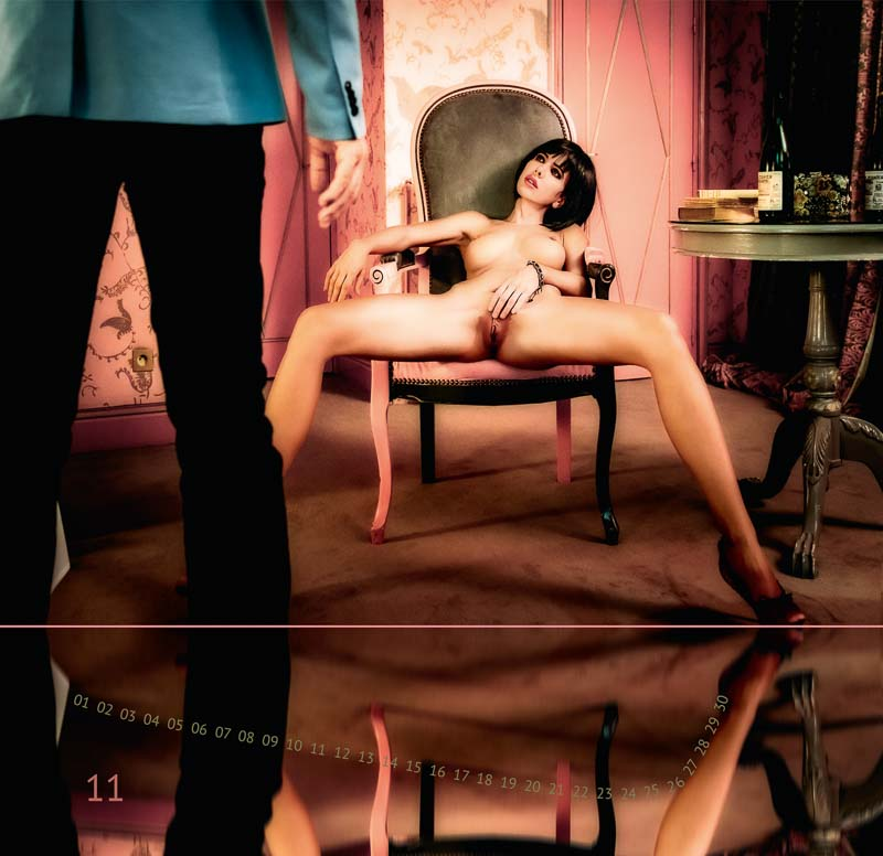 "Calendar ""THE TWELVE MUSES"" 11 THE OBSCENE ©Peter Palm"