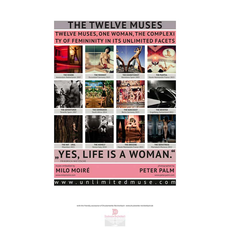 "Calendar ""THE TWELVE MUSES"" BACK COVER ©Peter Palm"