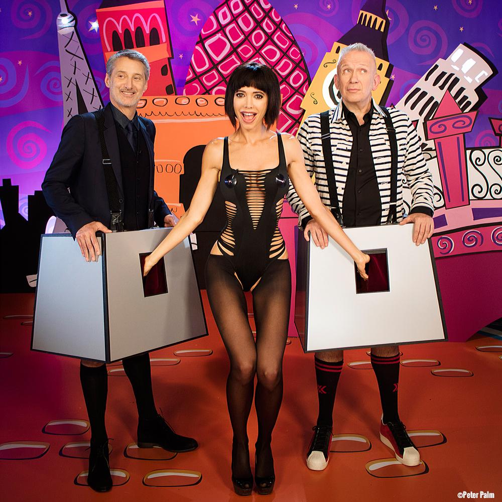 """Milo Moiré & Jean Paul Gaultier on Studioscreen """"Eurotrash"""" Show Channel 4 UK"""